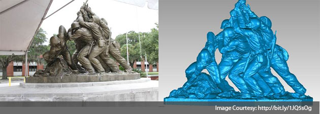 3d Scanning Of the Marine Corps War Memorial